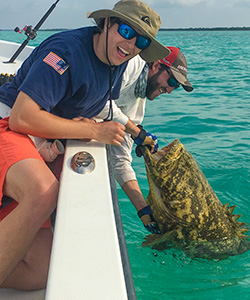 Somtimes we catch Goliath Groupers in the Florida Keys backcountry